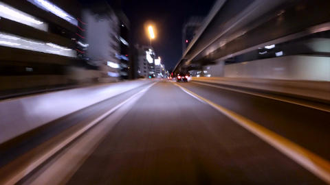 Motion POV timelapse through the Metropolitan and Bayshore Highway in Tokyo Footage
