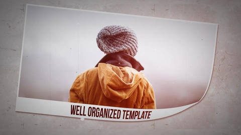 Simple &Clean Paper Slideshow After Effects Template