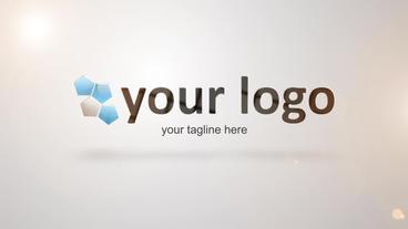 Glassi Slice Logo Reveal stock footage