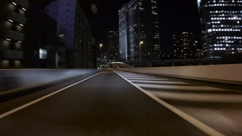 Driver POV through the Miyakezaka JCT on the metropolitan highway Footage