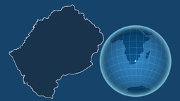 Lesotho and Globe. Solids Animation