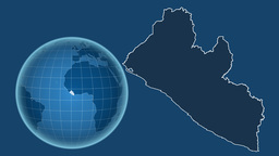 Liberia and Globe. Solids Animation