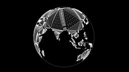 Globe Nice Wireframe Animation 30FPS Animation