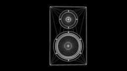 Music Speaker Nice Wireframe Animation 30FPS Animation