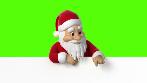 Santa Claus points finger down Animation