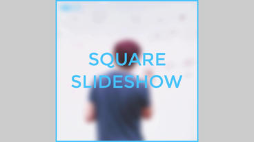 Square Slideshows After Effects Templates