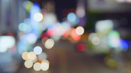 Traffic jam on a highway at night, out of focus Live影片