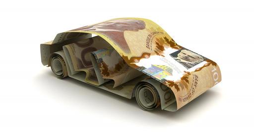 Car Finance with Canadian Dollar Animation