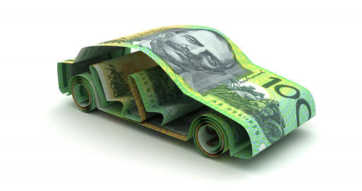 Car Finance with Australian Dollar Animation