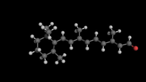 retinal molecule model rotaing Animation