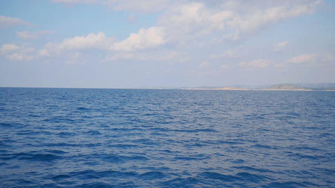 Seascape view from moving sailing boat in Adriatic sea Footage