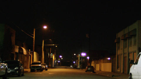 Empty city street at night Footage