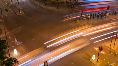 Traffic timelapse, London, England, UK 動画素材, ムービー映像素材