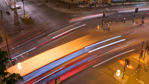 Traffic timelapse, London, England, UK ビデオ