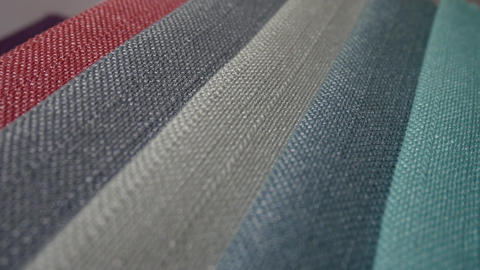 Colorful fabric samples Footage