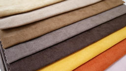 Colorful fabric samples Filmmaterial
