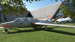 Fouga CM.170 Magister two-seat jet trainer aircraft Live Action