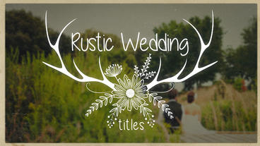 Rustic Wedding Titles After Effectsテンプレート