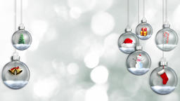Christmas Ornaments (6) CG動画素材