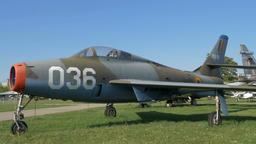 Republic F-84F Thunderstreak USA fighter-bomber aircraft Footage