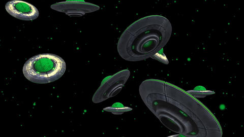 3D Alien Ship looped Animation