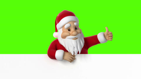 Santa Claus giving thumb up Animation