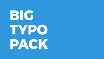 Big Typo Pack Motion Graphics Template