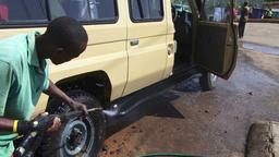 Manual carwash with high pressure pipe Filmmaterial