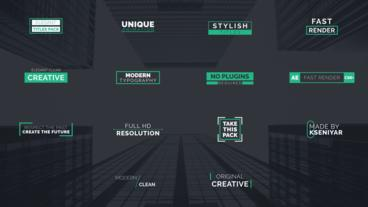 Modern Clean Titles After Effects Template