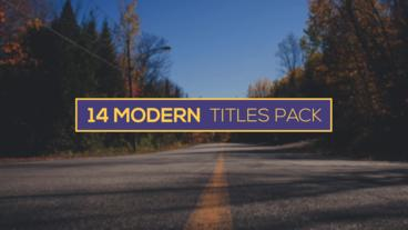 Modern Titles Pack After Effects Templates