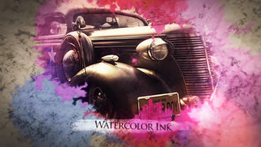 Ink Flow Parallax Slideshow After Effects Template