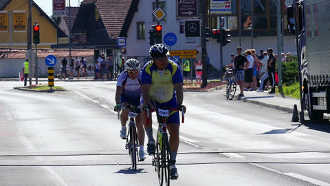 LJUBLJANA, 28.9.2017, Amateur cycling race: Last marathon participants Footage
