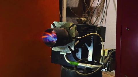 Testing home heating gas burner ignition electrode spark Footage