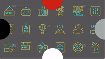 510 Line Icons After Effects Template