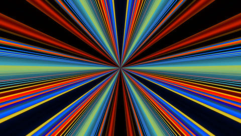 Colorful Rays Lights Beam Loop Vj Animation