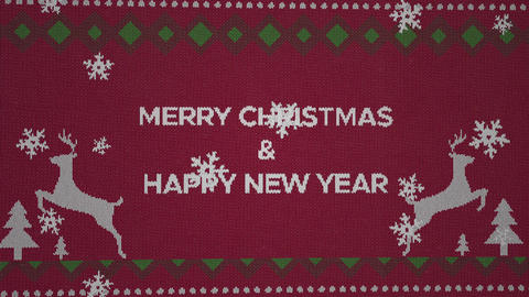 Merry Christmas and a happy New Year Videos animados