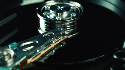 Computer techologies. Hdd, hard drive. Storage of digital data in the computer. Live Action