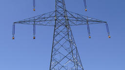 A high voltage electricity transmission pylon Footage