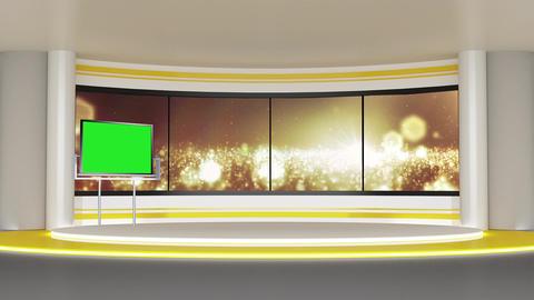 News TV Studio Set 280- Virtual Background Loop ライブ動画