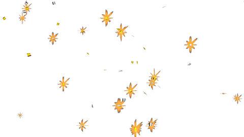 紙ふぶき(金銀)キャノン砲 -少なめ- 動画素材, ムービー映像素材