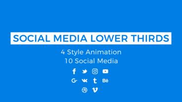 Social Media Lower Thirds Motion Graphics Template
