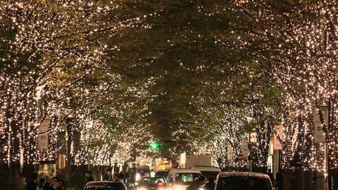 Japan Tokyo marunouchi Illumination Footage