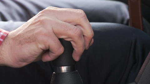 Changing Gears in a manual stick shift Car Footage