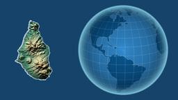 Montserrat and Globe. Relief Animation