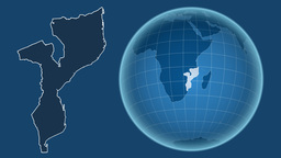 Mozambique and Globe. Solids Animation
