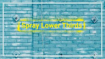 Spray Paint Lower Thirds | Graffiti Titles After Effects Template