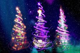 Christmas tree CG動画素材