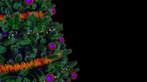 Christmas Tree Rotating Loop Footage
