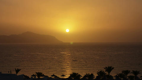 Sunrise in Red Sea. Sinai peninsula Footage