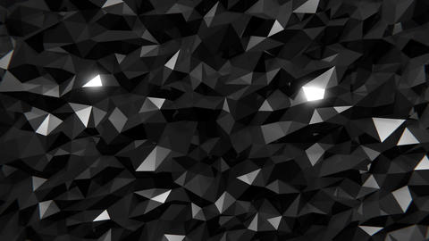 Polygonal Dark Background CG動画素材